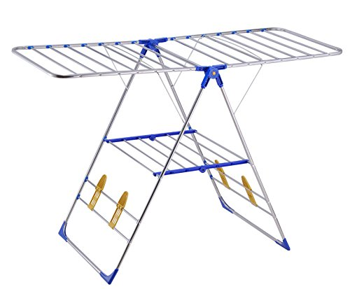 Rust-proof  Premium Quality Stainless Steel Collapsible Clothes/Laundry Drying Rack, PDR01E
