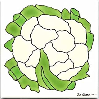 product image for Fruits-VEGETBLES-TRIVETS-Wall PLAQUES-Cauliflower Tile