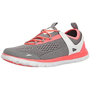 Speedo Women's The Wake Athletic Water Shoe, Grey/Neon Pink, 8 C/D US