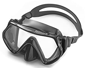 Diving Mask, Scuba Diving, Free Diving, Snorkeling Mask, Adults, Black, Flexible Silicone, Tempered Glass Lens, The Optimum Mask, For Comfort, Clarity And Durability, Perfect Dives Every Time.