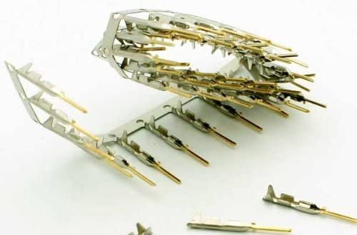 PC Accessories 200//Pack Gold Plated DB Crimping Pin Connectors Pro D-Sub Male Crimp Pins