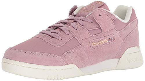 Reebok Women's Workout Low Cross Trainer VTG-Infused Lilac/Chalk/r 8 M -