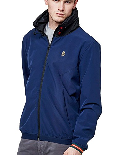 Jacket Luke Windproof Navy Sport Ssc Hooded Lux a88IZS