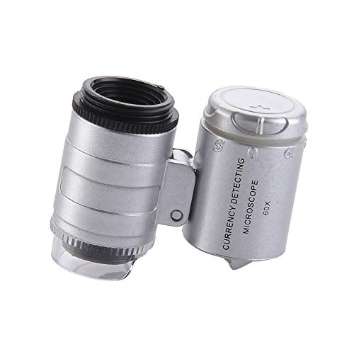 Fan-Ling 60X Magnifying Universal Mobile Phone LED Microscope Magnifier with Clip,Microscope Identification -