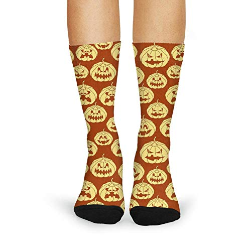 Halloween pumpkin carving face red Womens Essential Vintage Style Medium Thickness No-Show Liner Cozy Crew Socks Funny Cool