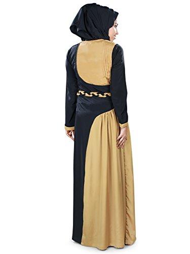 Shiza High Maxi amp; Black AY Jailbad Fashion MyBatua 415 Abaya Beige qIydpBBYcw