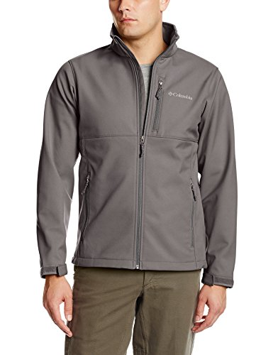 Columbia Men's Big & Tall Ascender Softshell Jacket, Boulder, X-Large/Tall