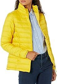 Amazon Essentials Women's Lightweight Long-Sleeve Full-Zip Water-Resistant Packable Puffer Ja