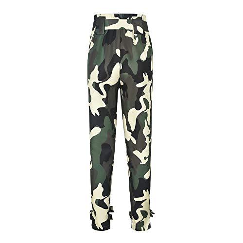 Camouflage Pantalons Toogoo Longs Armée Sport Avec S Ceinture En Occasionnels Jaune Féminine Haute Lache Dames Verte De Mode Air Taille D'escalade Plein XFXRpr