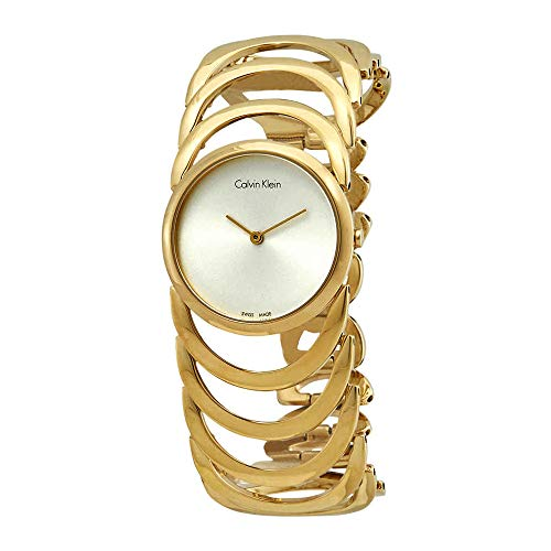 - Women's Gold Calvin Klein Body Stainless Steel Watch K4G23526 band color: Gold, Dial color: Silver