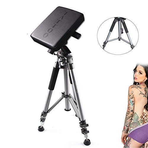 Aluminum Alloy Tattoo Studio Equipment, NOPTEG Black Tattoo Chair Arm Tripod Rest Bracket Leg Stand Full Adjustable Armrest Kit