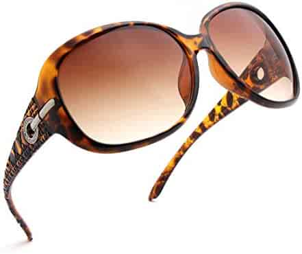 47df09f0424 ENSARJOE Women s Classic Stylish Designer Oval Retro Sunglasses 100% UV400  Protection