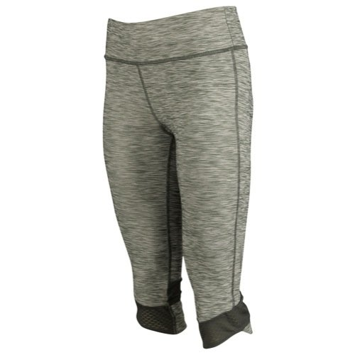 Under Armour Women's UA Fly-By Textured Capri LG (US 12-14) x 17 PHANTOM GRAY
