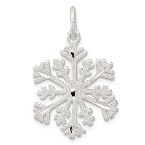925 Sterling Silver Snowflake Pendant Charm Necklace Winter Fine Jewelry Gifts For Women For Her ()