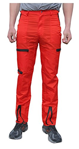 Countdown Classic Nylon 80s Parachute Pants (32, Red/Black)]()