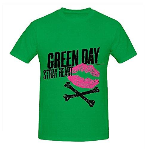 Green Day Stray Heart Men Shirt Round Neck Custom ()