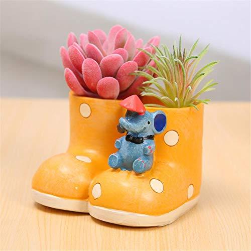 (Flower Pots Planters - Creative Rain Boot Design Flowerpot Resin Succulents Plants Cute Garden Pot Nursery - Flower Planters Pots Flower Pots Planters Plant Raincoat Pedal Tray Decor)