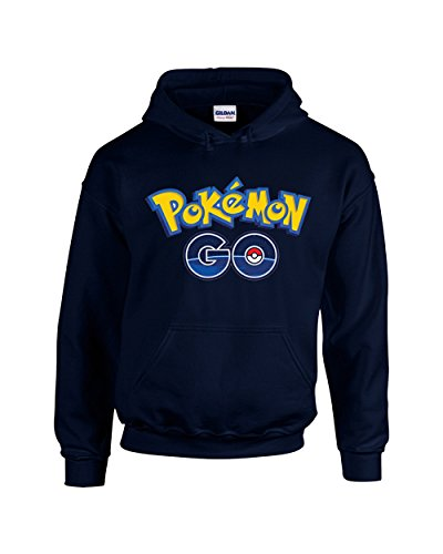 Camalen Pokemon Go! Popular Cool Unisex Pullover Hoodie Hooded Sweatshirt(Navy,Large) by Camalen