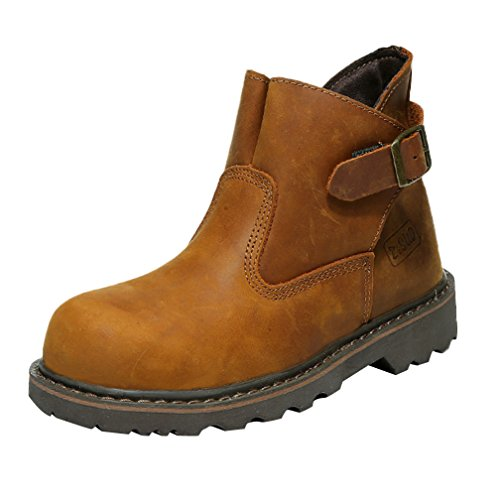 Camel Strap Leather Insun Boots Work Horse Men's Crazy qw6O6H0z