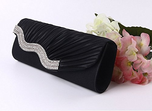 Jesica Ladies Wedding Party Satin Handbag Shoulder Bag with Chain