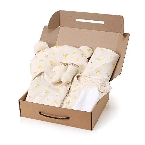 WithOrganic Newborn 7-Piece Organic Gift Set /100% Organic Cotton (6M, Chick)