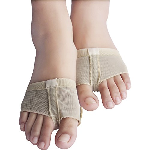 Dance Paws Pad Foot Thong Paws Half Shoes Beige