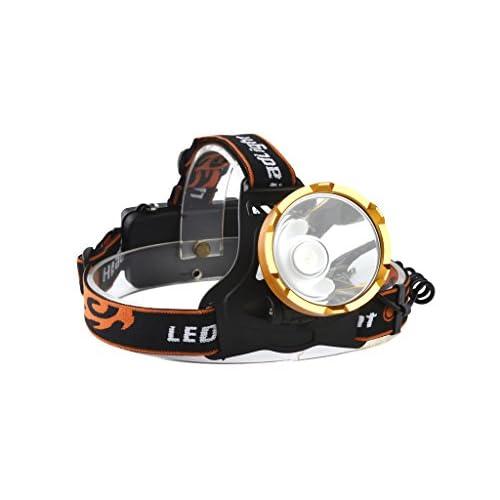 WolfWay 2000Lm LED puissante Lampe Frontale en alliage d'aluminium tête torche lampe pour camping phare de vélo
