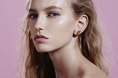 Lara Bohinc Femme Argent sterling plaqué or jaune 18ct Papillon boucles d'oreille à tige