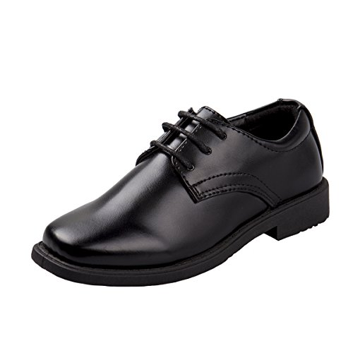Josmo Boys Basic Oxford Casual Dress Shoe, Black, Size 3' by Josmo
