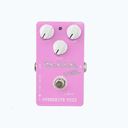 (Caline USA CP-32 Clear Veil PINK Overdrive Fuzz Guitar Effect Pedal )