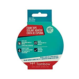 Tombow Foam Tape, White, 6.56ft