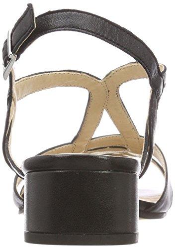 Cinturino 22 Donna alla 28201 Nappa Caviglia Nero Caprice con Black Sandali Fxwpq7Tv