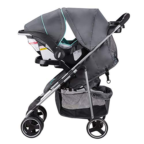 41bgW KkUbL - Evenflo Vive Travel System With Embrace Infant Car Seat, Spearmint Spree