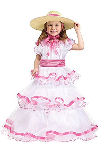 Fun World Costumes Baby Girl's Sweet Southern Bell Toddler Costume, Pink/White, (Toddler Southern Belle Costume)