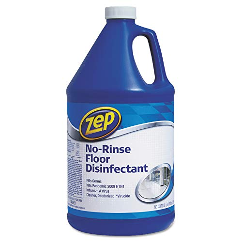 Zep Commercial 1041697 No-Rinse Floor Disinfectant, 1