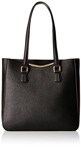 Calvin Klein Saffiano On My Corner North/south Tote Black/black H6db15ab