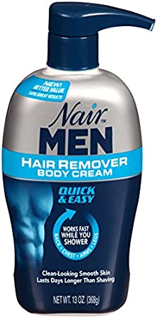 Nair Hair Remover Men Body Cream 385 ml Pump by Nair: Amazon ...