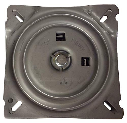 (7 Inch Replacement Angled Bar Stool Swivel Plate with Memory Auto Spring Self Return Feature - S4938)