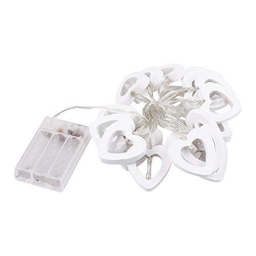 Wooden Heart Led Lights in US - 9