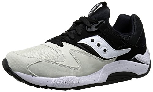 Saucony Originals Men's Grid 9000 Sneaker,White/Black,10.5 M US