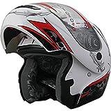 Snowmobile Motorcycle Modular Flip up Anti Fog 306_210 Pearl White (L)