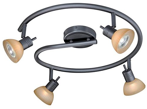 Vaxcel SP53518DB Como 4 Light Spiral Rod Spot Light, Dark Bronze Finish