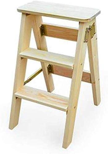 ZXL Las Heces Simples Plegables Multifuncionales, Escalera de Madera Plegable de Alta Tres Escalera Plegable de la Cocina de Rack Almacenaje de Los Niños Regalo,Si,40 × 20 × 60 cm: Amazon.es: Bricolaje