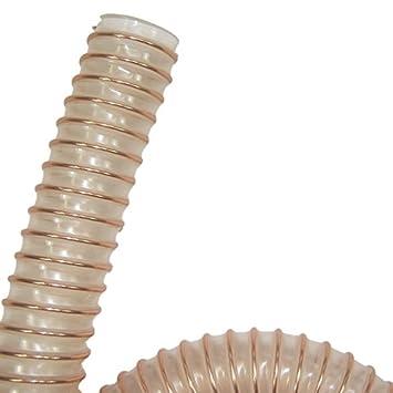 mikrobenfest Leichter Absaugschlauch mit Stahldrahteinlage Schlauch aus Polyurethan Meterware schwerentflammbar DIN 4102 B1 antistatisch VIDEFLEX PU L-AS 40mm