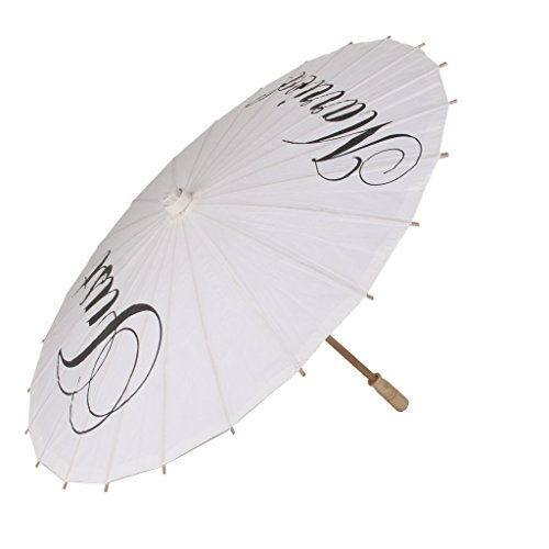sea-junop Folding Paper Parasol Umbrella Photography Photo Prop Wedding Party Just Married