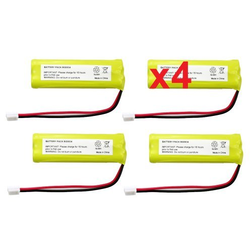 4 Fenzer Rechargeable Cordless Phone Batteries for V-Tech BT-18443 BT-28443 Cordless Telephone Battery Replacement Packs