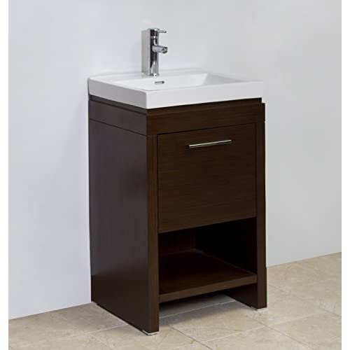 American Imaginations AI-1157 21.5-in. W x 18-in. D Vanity With White Ceramic Top For Single Hole Faucet Installation In Wenge best