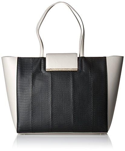Cavalli Shopping bag Reptilia 005, Borsa tote donna Multicolore Mehrfarbig (Black/Offwhite F36) 33x28x16 cm (B x H x T)