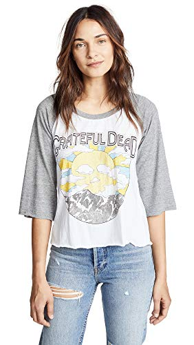 CHASER Women's Grateful Dead Sunny Days Tee, White, X-Small