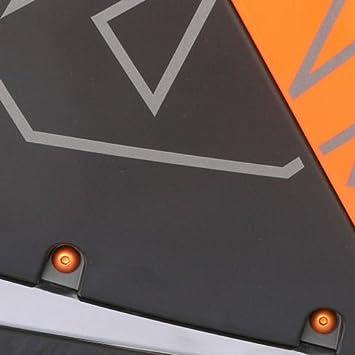 Kit visserie car/Ã/©nage en aluminium Aprilia RSV 1000 Tuono R 02-08 Orange